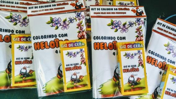 20 Livrinho De Colorir - Giz De Cera R$ 3,40 Cada