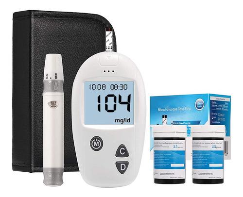 Kit De Análisis De Azúcar En Sangre, Diabetes Medidor De Glu