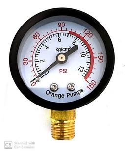 Manometro Hidroneumatico Compresor 0-180psi 5cm 1/4 R