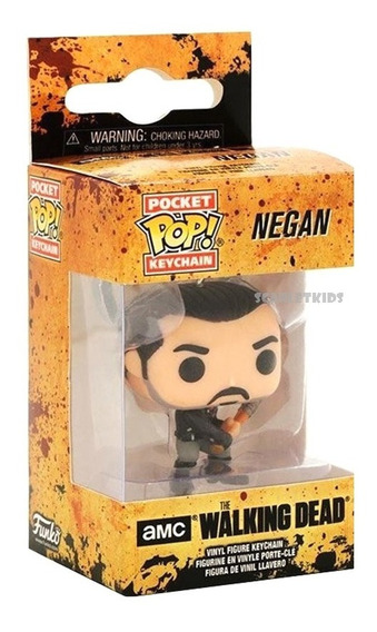Llavero Pop The Walking Dead Negan Funko Pocket Scarlet Kids
