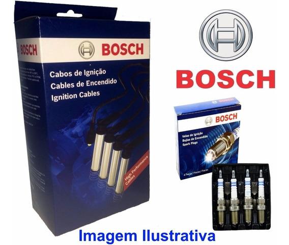Cabo Vela + Vela Bosch Vw Gol Parati Saveiro G3 G4 1.8 Flex