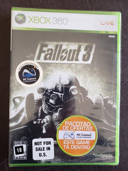 Fallout 3 Xbox 360 Novo Lacrado