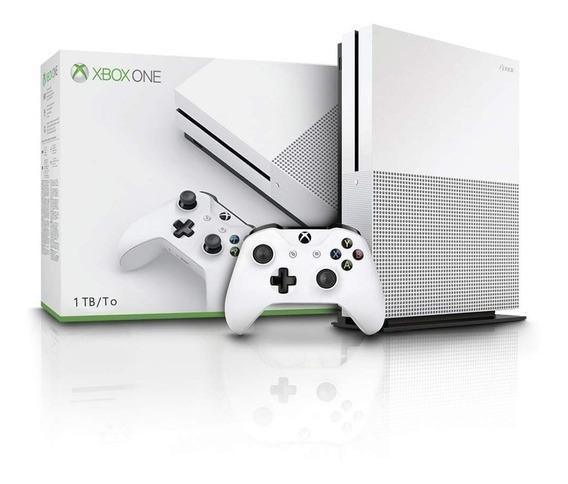 Xbox One S 1tb Lacrado, Microsoft Original Com Nota Fiscal