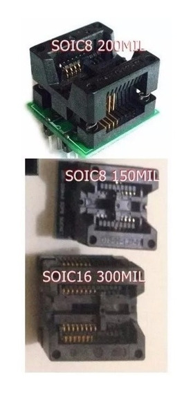 Adaptador Soic8 Sop16 Para Dip8 150 200 300mil Frete Gratis