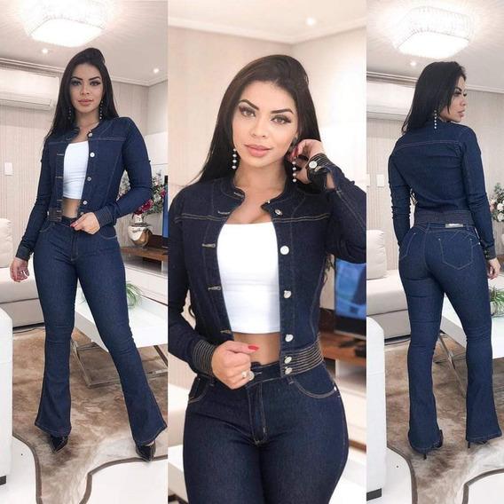 Calça Jeans Flare Com Elastano No Tamanho 44, Cos Alto.
