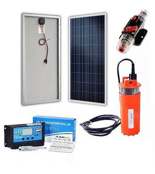 Kit De Panel Solar 12v 150w + Controlador + Bomba + Fusible