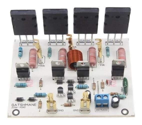 Placa Amplificador De 200w Com 2sc5200/2sa1943 Montada