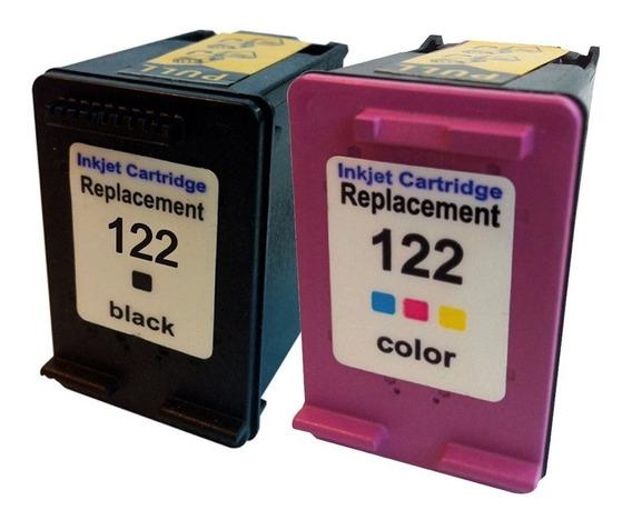 Kit Cartucho 122xl Preto E Color 12mlnew 1000 2000 2050 3050