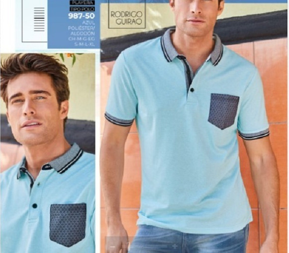 Playera Para Caballero Color Azul 987-50 Cklass Men 1-20 A