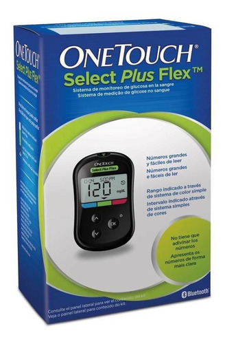 Kit Medidor Glicose One Touch Select Plus Flex