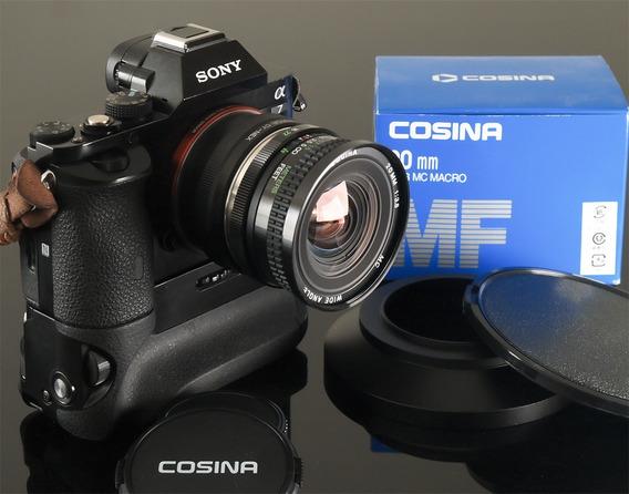 Lente Nova, 20mm F 3,8 Cosina Macro-encaixe Cy-canon-sony-fuji