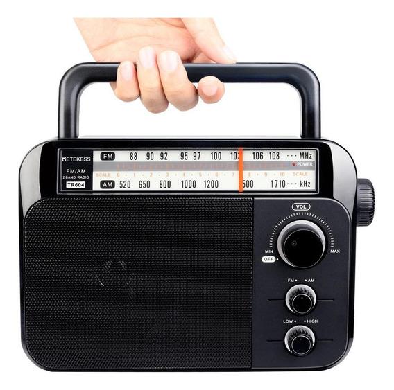 Rádio Retekess Tr604 Analógico Am/fm Stéreo Com Alça