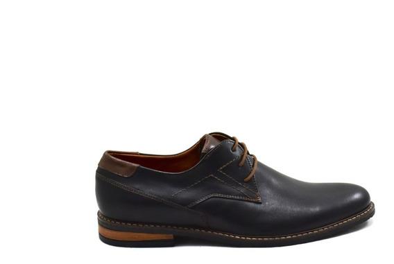 Zapato Negro De Cuero Para Hombre Bordeaux Leather