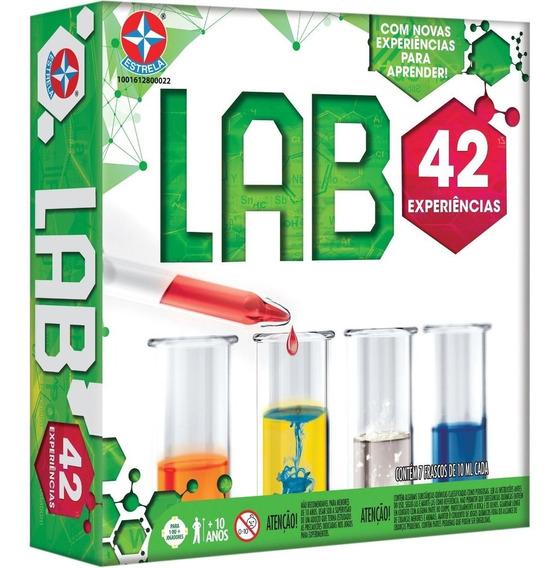 Kit De Experiencia Lab 42 Jogo Laboratório Estrela Original