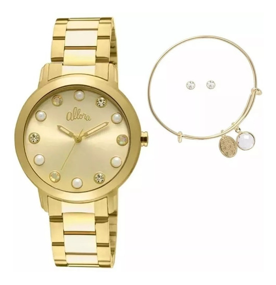 Relógio Allora Feminino Al2035lr/k4d Original Barato
