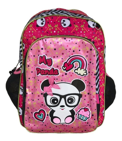Mochila Escolar De Costas Original Chenson Panda 2020 Rosa