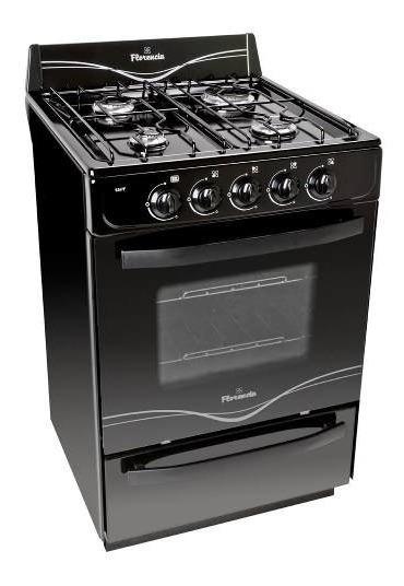 Cocina Florencia 56 Cm Flor 5517f Multigas Negra