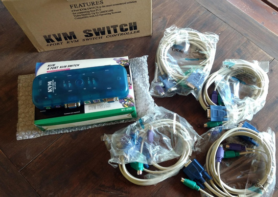 Switch Kvm Ps2 Hd+ 4 Puertos