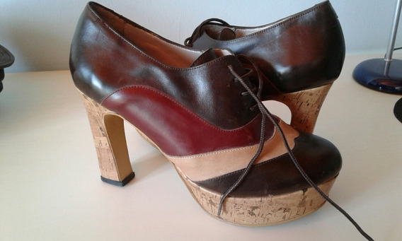 Zapatos Cuero Mujer ,como Nuevos...