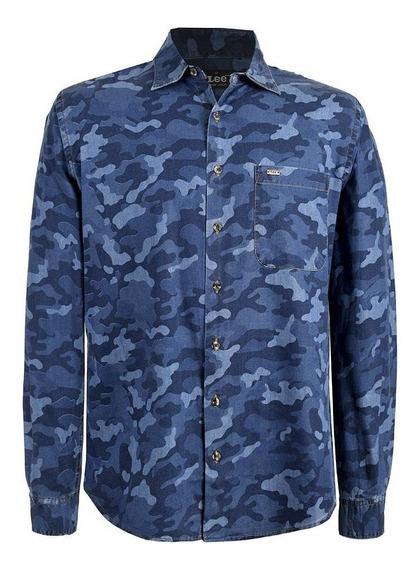 Camisa Casual Lee Hombre Manga Larga E41