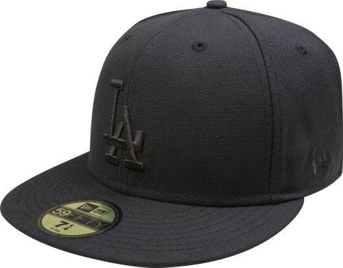 Mlb Los Angeles Dodgers Negro Sobre Negro 59fifty Gorro