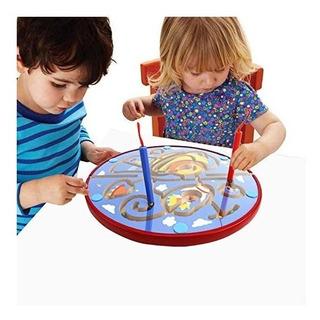 Laberinto Magnético Juego Aprender Niños Tablero 3 En 1 Lewo