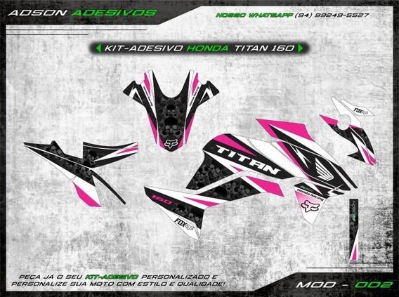 Kit Adesivo Honda Cg Titan 160 Kit Gráfico Titan Caveira