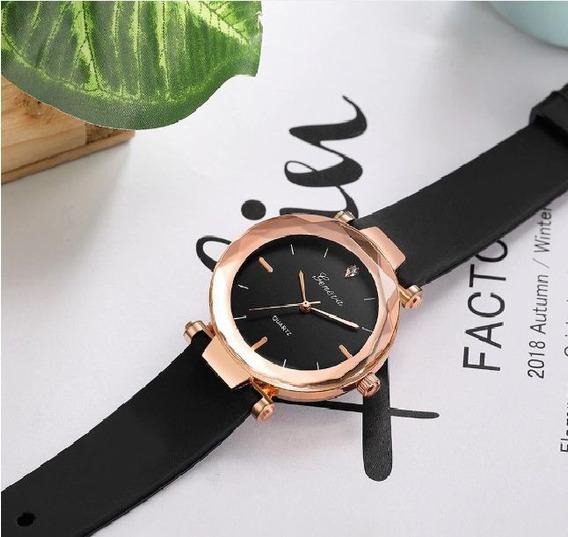 Relógio Feminino Geneva Silicone Preto