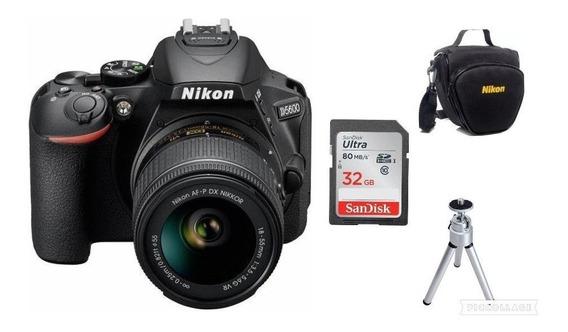 Câmera Nikon D5600 C/18-55mm+32gb+bolsa+tripé