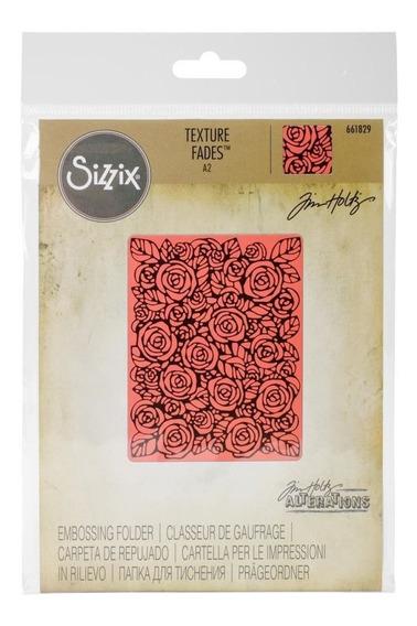 Carpeta Texturizadora Embossing Roses Sizzix