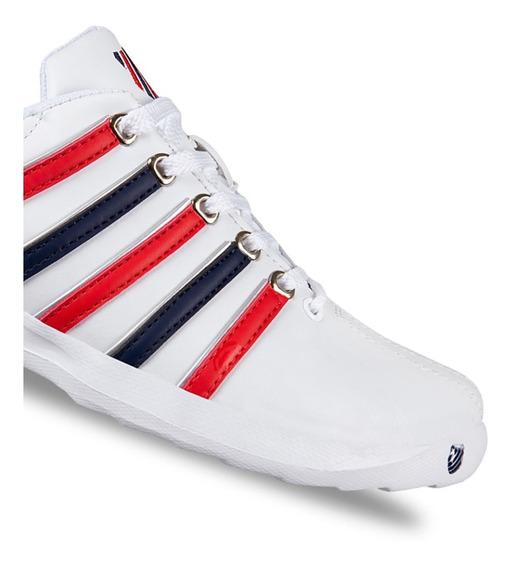 Tenis K-swiss Pro Active Blanco / Azul-rojo Hombre