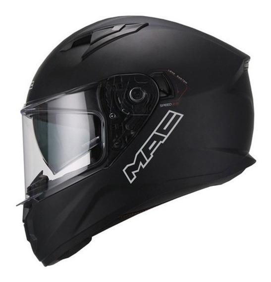 Casco Moto Mac Speed 2.0 Negro Mate Visor Cuotas Devotobikes