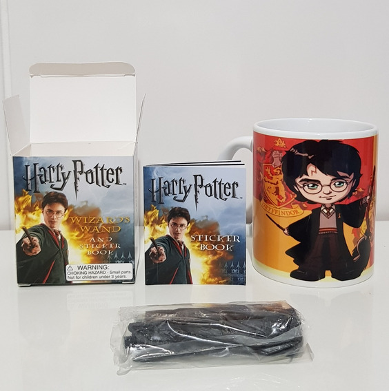 Kit Livro + Varinha - Harry Potter + Caneca Personalizado