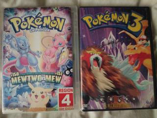Pokémon La Película Y Pokémon 3, Dvd