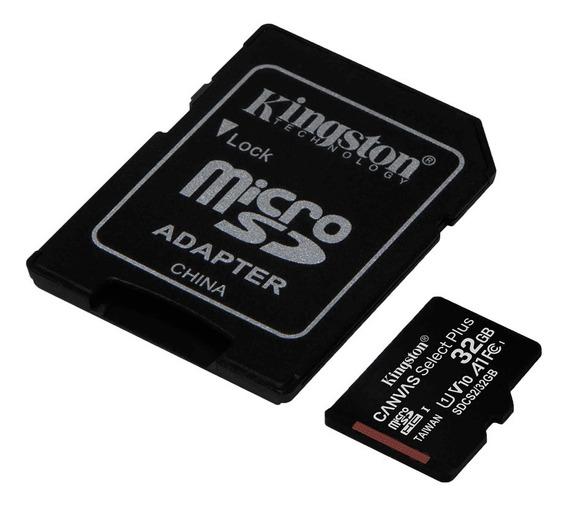 Cartão De Memória 32gb Kingston Microsd 100mb/s + Adaptador