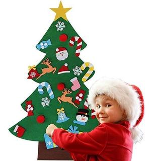 Árbol De Navidad De Fieltro Para Niños 26 Adornos Didáctico