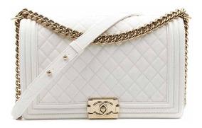 Chanel Boy White M / Entrega Imediata / Frete Grátis