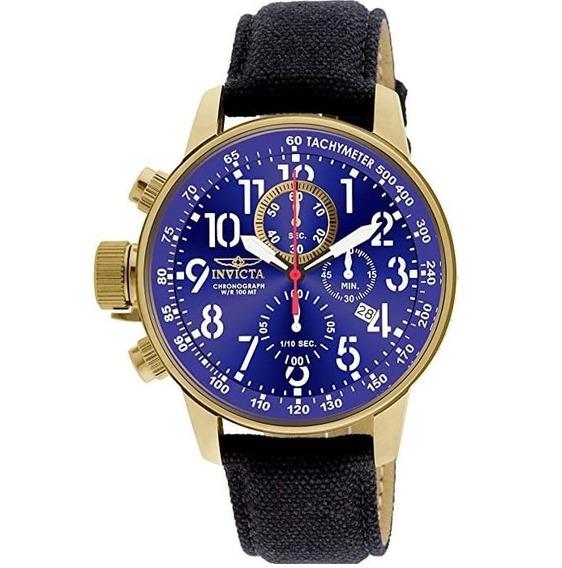 Relógio Invicta Original 18k Pulseira Em Pano I-force 1516