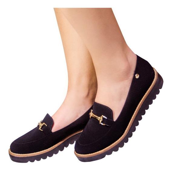 Sapato Feminino Mocassim Tratorado