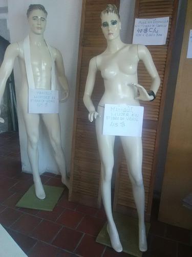 Vendo Maniquíes A Cuerpo Completo 1 Hombre 1 Mujer