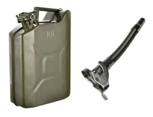 Bidon De Chapa Combustible 10 Lts + Pico Vertedor Kushiro