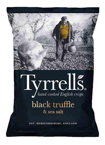Batata Chips Sabor Trufas Negras 150g Marinho Sal Tyrrells