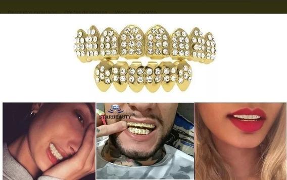 Grillz Dentes Banhado A Ouro ( Pronta Entrega )