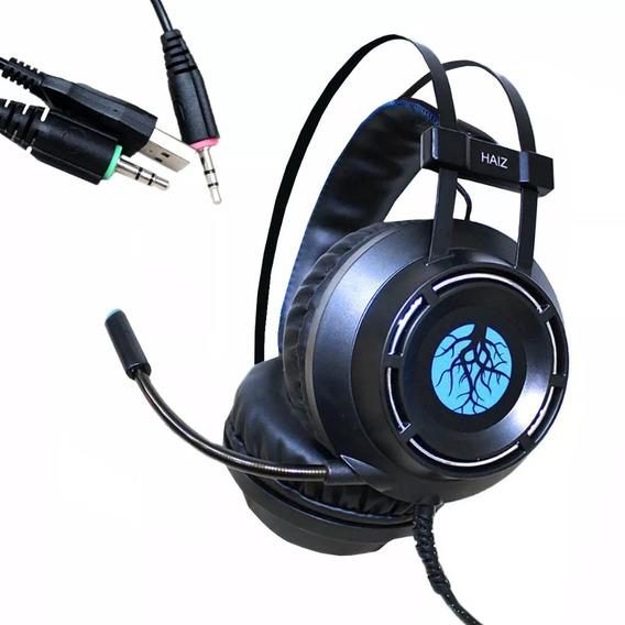 Fone Headset Gamer Haiz Hz9800 5.1 Led Microfone Pc P2 Usb
