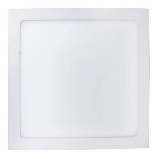 Painel Plafon 12w Luminaria Led Quadrado Sobrepor