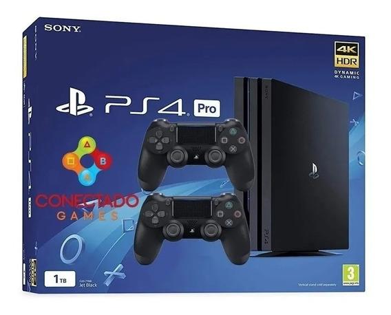 Ps4 Playstation 4 Pro 7215b 1 Tb 2 Controles Na Promoçao