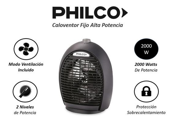 Caloventor Fijo Philco 2000w 2 Niv De Pot Incluye Modo Vent