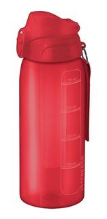 Garrafa Squeeze Vermelha 750 Ml Com Tubo De Gelo Soprano