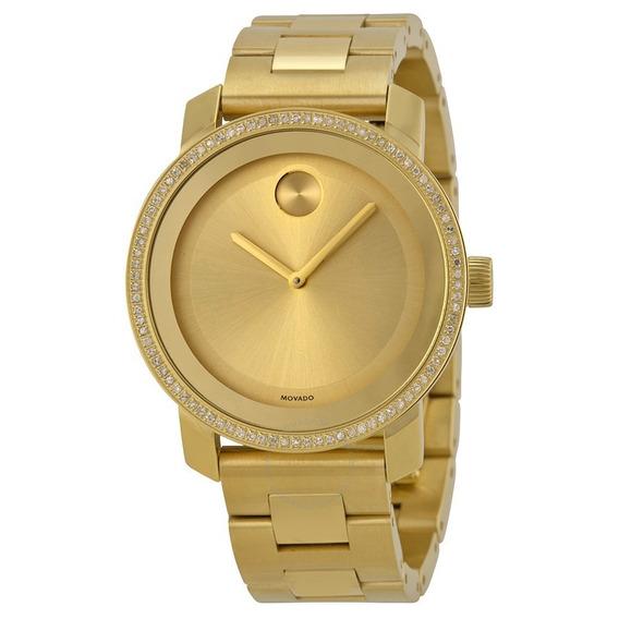 Reloj Movado Bold Unisex Dorado Acero 3600150