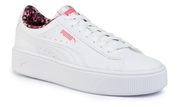 Puma Zapatillas Lifestyle Mujer Vikky Stacked Neon Bco Fkr